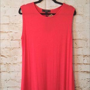 L&B sleeveless summer red ruffled dress